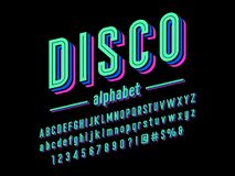Disco font stock illustration
