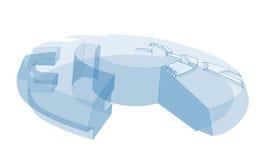 Disco futuro 3D Fotografía de archivo