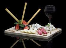 Disco gastronomico del formaggio Fotografie Stock Libere da Diritti
