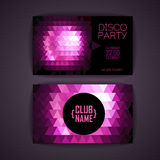 Disco geometric triangle background. Stock Images