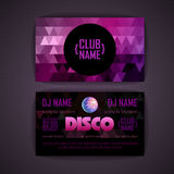 Disco geometric triangle background Stock Images