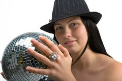 Disco girl Stock Image