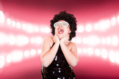Disco girl Royalty Free Stock Images