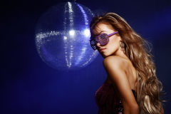 Disco girl Stock Photo