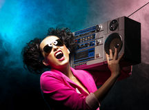 Disco girl Stock Photos