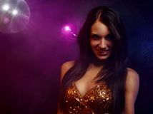 Disco girl Stock Image