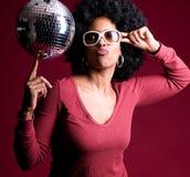 disco girl στοκ εικόνες
