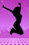 Disco girl dance Stock Photos