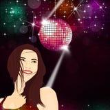 Disco Girl Music Background Stock Photos