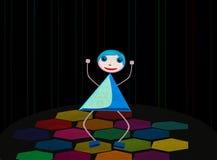 Disco girl. vector Royalty Free Stock Photo