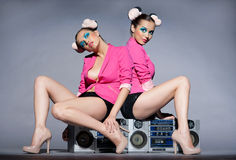 Disco girls Royalty Free Stock Image