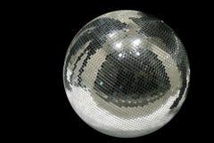 Disco globe. Big mirror disco globe isolated Royalty Free Stock Photos