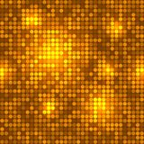 Disco golden background seamless pattern. Royalty Free Stock Photography