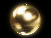 disco golden sphere Στοκ φωτογραφίες με δικαίωμα ελεύθερης χρήσης