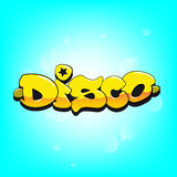 Disco graffiti vector decoration Stock Images
