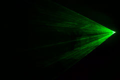 Disco green laser with triangular shape Royalty Free Stock Photos