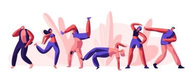 Disco Guy Freestyle Dancing Party Movimiento activo de la gente, del muchacho y de la muchacha de la juventud junto Forma de vida libre illustration