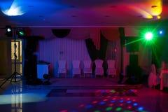 Disco in hall stock photos