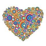 Disco heart Royalty Free Stock Image