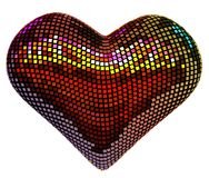 Disco heart. Isolated over white stock photo