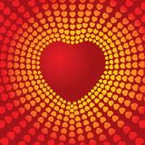 Disco heart. A great valentines day collection Royalty Free Stock Photography