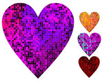 Disco heart. Vector illustration Royalty Free Stock Photography