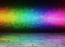Disco horizontal background Royalty Free Stock Image