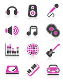 Disco icons Royalty Free Stock Images