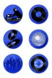 Disco Icons Stock Photos