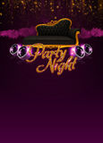 Disco invitation background Royalty Free Stock Image