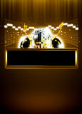 Disco invitation background Stock Photography