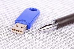 Disco istantaneo del USB Fotografia Stock