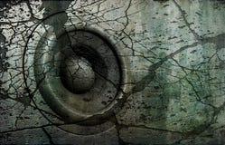 disco-jóquei idoso DJ do sistema de som do altofalante do grunge 3d Imagens de Stock