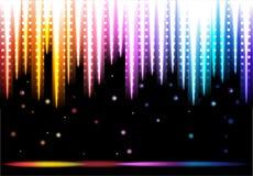 Disco kleurrijke achtergrond Royalty-vrije Stock Foto's