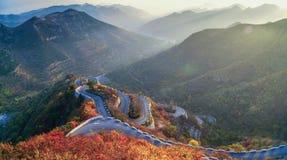 Disco Kowloon del cielo de la mañana del otoño de la montaña Fotos de archivo