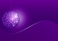 Disco-Kugel-Disco-Kugel auf violettem Hintergrund Stockbild
