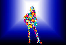 Disco lady Stock Photography