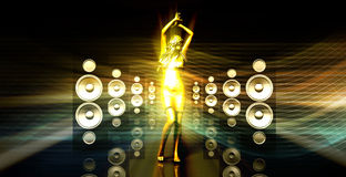 Disco Lady Royalty Free Stock Photo