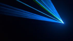 Disco laser light seen from the side Stock Photos