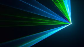 Disco laser light of show. Rays of colors Royalty Free Stock Images