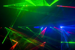 Disco And Laser Show Stock Images