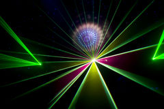 Disco and laser show Royalty Free Stock Image
