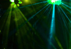 Disco. Laser show. Royalty Free Stock Image