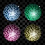 Disco light ball vector illustration