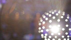 Disco Light Ball Effect Spinning stock footage