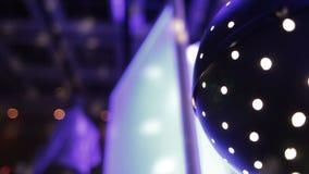 Disco Light Ball Effect Spinning stock video