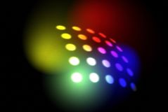 Disco Light/Pop Art. A computer rendering of a series of lighted dots with colors added royalty free stock image