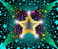 Disco light shooting stars royalty free illustration
