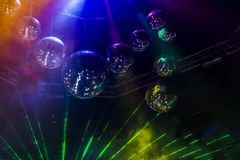 Disco light show, Stage lights with laser Stock Photo
