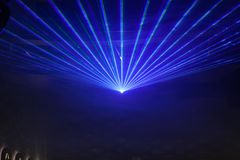 Disco light show, Stage lights. With laser Royalty Free Stock Image